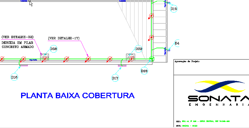 Exemplo de projeto de SPDA - Sonata Engenharia